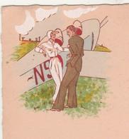 Menu Années 20 / Non Utilisé / Illustration Sport Aviation, Avion, Aviatrice - Menus