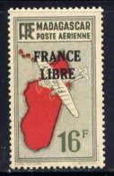 MADAGASCAR - A50* - CARTE / FRANCE LIBRE - Madagascar (1889-1960)