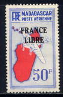MADAGASCAR - A51* - CARTE / FRANCE LIBRE - Madagascar (1889-1960)