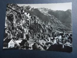 19853) LIECHTENSTEIN VADUZ MIT DEN RKATIKONBERGEN VIAGGIATA 1962 TIMBRO TARGHETTA - Liechtenstein