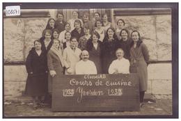 DISTRICT D'YVERDON - YVERDON - COURS DE CUISINE 1933 - PHOTO DE CLASSE - TB - VD Vaud