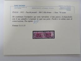 ITALIA – 1952 -  Pacchi Postali – 300 L. Lilla Bruno – (Sass. 79 ) Usato. - Pacchi Postali