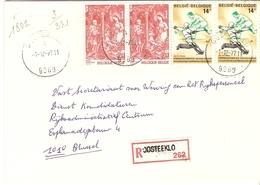 Belgique 1977 - Lettre Recommandée De OOSTEEKLO - Flandre Orientale - Cob 1866 X 2/1874 X 2 - Belgique