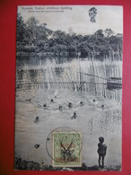 BRITISH NORTH BORNEO SANDAKAN NATIVE CHILDREN BATHING TIMBRE BRITISH PROTECTORATE - Malaysia