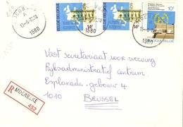 Belgique 1978 - Lettre Recommandée De MOERBEKE - Flandre Orientale - Cob 1885/1886 X 2 - Belgique
