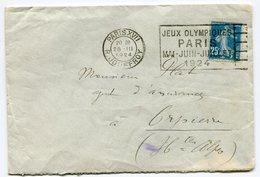 RC 11227 FRANCE SEMEUSE OBL. JEUX OLYMPIQUES PARIS 1924 / PARIS XVII R. JOUFFROY 1924 TB - Summer 1900: Paris