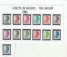 France Non Dentelé Sans Charniére Gandon Série 2178 A 2190 Complet - France