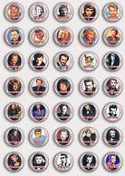 35 X Johnny Hallyday Music Fan ART BADGE BUTTON PIN SET 5 (1inch/25mm Diameter) - Music