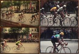 TOUR DE FRANCE CYCLISTE 1975 Sur Les Champs-Elysées - Série De 24 Diapos (6 Scans) - Diapositives