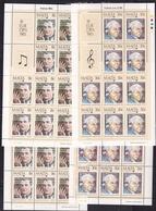 1985 Malta EUROPA CEPT EUROPE 20 Serie Di 2v. MNH** In 4 Minifogli 4 Minisheets - Europa-CEPT