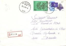 Belgique 1979 - Lettre Recommandée De SEILLES - Province De Namur - Cob 1926/1927 - Belgique