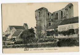 GREZ SUR LOING Les Ruines De L'église - France