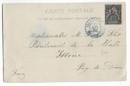 1902 - MADAGASCAR - CARTE De TANANARIVE => ISSOIRE - Madagascar (1889-1960)