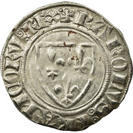 Monnaie, France, Charles VI, Blanc Guénar, Atelier Incertain, Variété, TTB - 1380-1422 Charles VI Le Fol