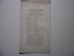 1902 Affiche Vente Publique DUNKERQUE Bateau Remorqueur Deux Helices JEAN BART - Affiches