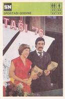 YUGOSLAVIA SPORTSMAN OF THE YEAR CARD-SVIJET SPORTA (B371) - Postcards
