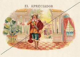 1893-1894 Grande étiquette Boite à Cigare Havane El Apreciador - Etiquettes