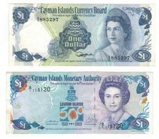 Cayman Is. 1 Dollar X 2 (1974 & 2003) Vf/xf. - Islas Caimán
