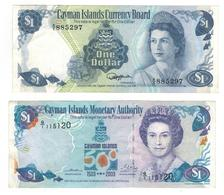 Cayman Is. 1 Dollar X 2 (1974 & 2003) Vf/xf. - Cayman Islands