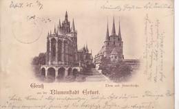 Gruss Aus Der Blumenstadt Erfurt 1897 - Erfurt