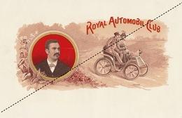 1893-1894 Grande étiquette Boite à Cigare Havane ROYAL AOTOMOBILE CLUB - Etiquettes