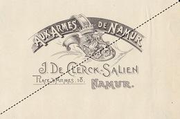 1893-1894 Grande étiquette Boite à Cigare Havane AUX ARMES NAMUR DE CLERCK SALIEN - Etiquettes