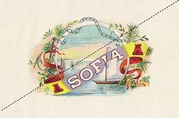 1893-1894 Grande étiquette Boite à Cigare Havane SOFIA - Etiquettes