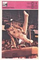GYMNASTICS CARD-SVIJET SPORTA (B401) - Gymnastics