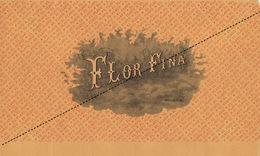 1893-1894 Grande étiquette Boite à Cigare Havane FLOR FINA - Etiquettes