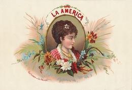 1893-1894 Grande étiquette Boite à Cigare Havane LA AMERICA - Etiquettes