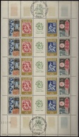 FRANCE Poste 1417A ** MNH + FDC Feuille Planche Complète 20 Tp Exposition Philatec Cachet Grand Palais Du 21 Juin 1964 - Feuilles Complètes