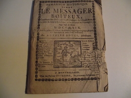 ALMANACH, Le Messager BOITEUX à MONTBELIARD, 1819 - Kalenders