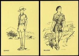 Lot De 4 Cartes Postales 1ère Réunion Des Scouts Collectionneurs - Bullet - Suisse 1983 - Scouting