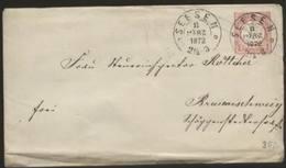 A576 Braunschweig Brief Seesen GZ DR 1872 M. Inhalt ! - Braunschweig