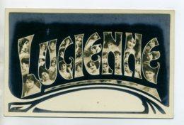 Prénom 003 LUCIENNE Avec Visages De Femmes Art Nouveau 1905 Aspect Carte Photo - Firstnames