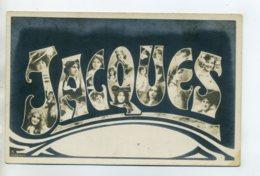 Prénom 004 JACQUES  Avec Visages De Femmes Art Nouveau 1905 Aspect Carte Photo - Firstnames