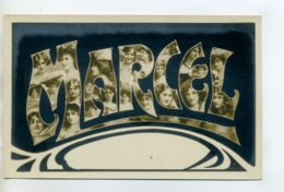 Prénom 006 MARCEL Avec Visages De Femmes Art Nouveau 1905 Aspect Carte Photo - Firstnames
