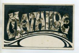 Prénom 008 MATHILDE Visages De Femmes Art Nouveau 1905 Aspect Carte Photo - Firstnames