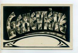 Prénom 009 GENEVIEVE Visages De Femmes Art Nouveau 1905 Aspect Carte Photo - Firstnames