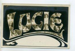 Prénom 010 LUCIE Visages De Femmes Art Nouveau 1905 Aspect Carte Photo - Firstnames