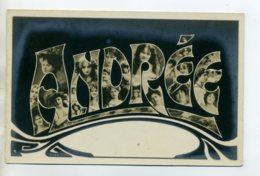 Prénom 012 ANDREE Avec  Visages De Femmes Art Nouveau 1905 Aspect Carte Photo - Prénoms
