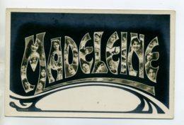 Prénom 014 MADELEINE Avec  Visages De Femmes Art Nouveau 1905 Aspect Carte Photo - Prénoms
