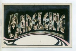 Prénom 015 MADELEINE  (en Couleur ) Avec  Visages De Femmes Art Nouveau 1905 Aspect Carte Photo - Firstnames