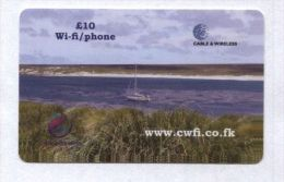 Falkland Islands - Prepaid - Landscape, Seaside, Yacht - Falkland Islands