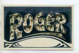 Prénom 017 ROGER Avec  Visages De Femmes Art Nouveau 1905 Aspect Carte Photo - Prénoms
