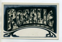 Prénom 018 ROSALIE Avec  Visages De Femmes Art Nouveau 1905 Aspect Carte Photo - Prénoms
