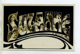 Prénom 019 SUZANNE Avec  Visages De Femmes Art Nouveau 1905 Aspect Carte Photo - Firstnames