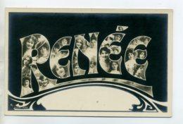 Prénom 023 RENEE Avec  Visages De Femmes Art Nouveau 1905 Aspect Carte Photo - Prénoms