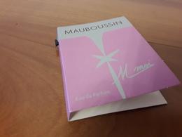 Echantillon Sur Carte MAUBOUSSIN** M Moi ** EdP - Perfume Cards