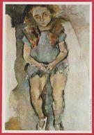 """"""" Jeune Fille """" Par Julius Pascin (1885 1930). Peintre.  Bulgarie. Encyclopédie De 1970. - Oude Documenten"""